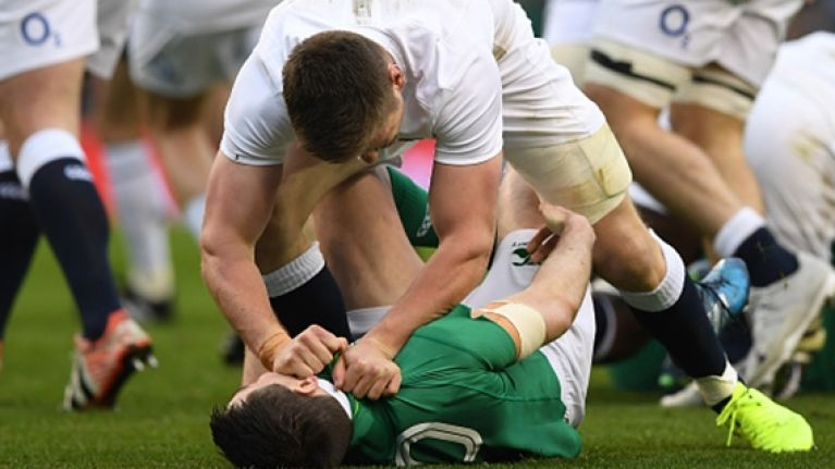 Kieran Marmion could hear the English players calling out the hits on Johnny Sexton