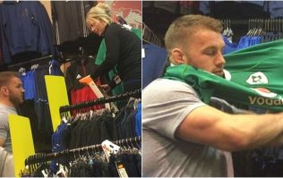 Sean O'Brien plays very funny prank on shop assistant in Kilkenny