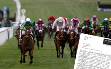 TWEET: This high stakes punter's betting statement will make your eyes water