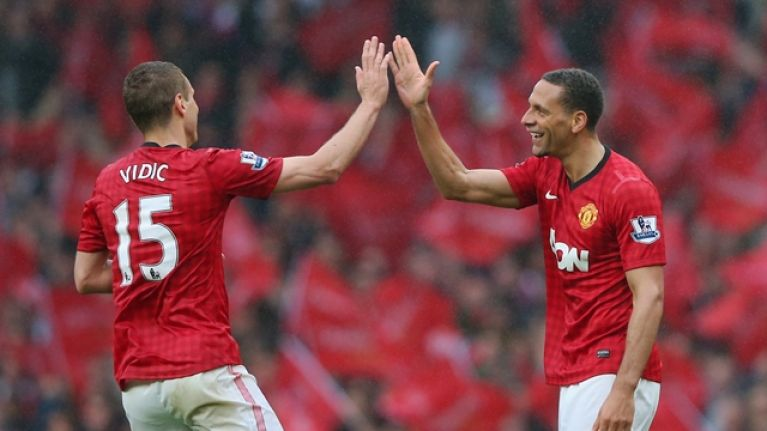 How Rio Ferdinand and Nemanja Vidic reacted to winning the Champions League sums up their defensive partnership