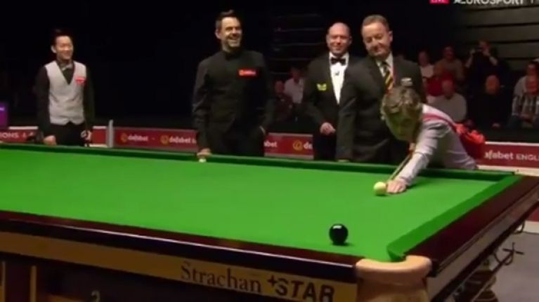 Ronnie O'Sullivan hits peak 'Rocket' as he lets fan take shot for him