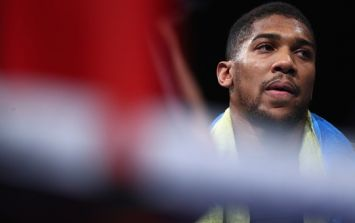 Anthony Joshua comes in surprisingly heavy ahead of first defence