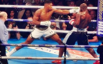 Anthony Joshua fights through broken nose to do what he always does