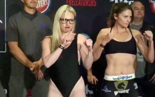 Heather Hardy caught unawares by rival during Bellator weigh-ins
