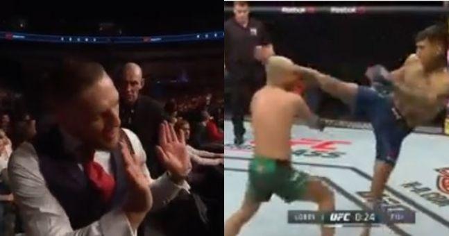 Conor McGregor receives referee warning as Artem Lobov loses