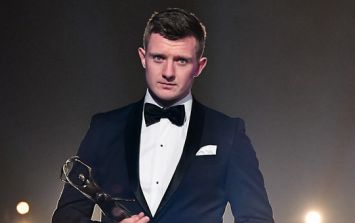 Touching moment Joe Canning collects Hurler of the Year award from Tony Keady's daughter