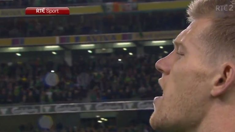 James McClean belts out best national anthem at Lansdowne Road since Holland