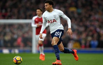 Arsenal fan aims monkey chant at Dele Alli as he was taken off at the Emirates