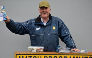 Fan at Ulster final finds best use for match programme