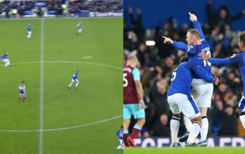 Wayne Rooney scores from his own half to complete hat-trick against West Ham