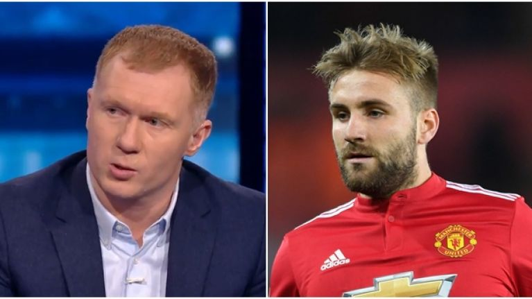 Paul Scholes has a theory on why Luke Shaw hasn't been playing for Manchester United