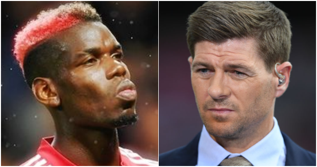 Steven Gerrard says Paul Pogba has the same problem he had in midfield