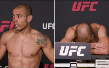 Jose Aldo gets fright of his life at UFC 218 weigh-in