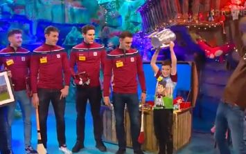 WATCH: Galway hurlers make young fan's day on The Late Late Toy Show