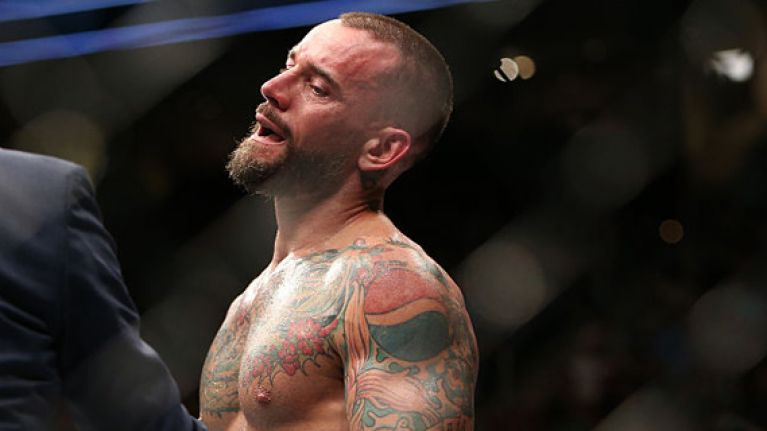 CM Punk actually lost to fold-up chair backstage at UFC 218