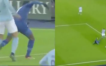Leicester's Demarai Gray wins controversial stoppage time penalty against Man City