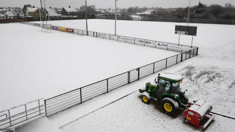 From Laois to London and Cavan to Antrim: Our GAA pitches are snowed under