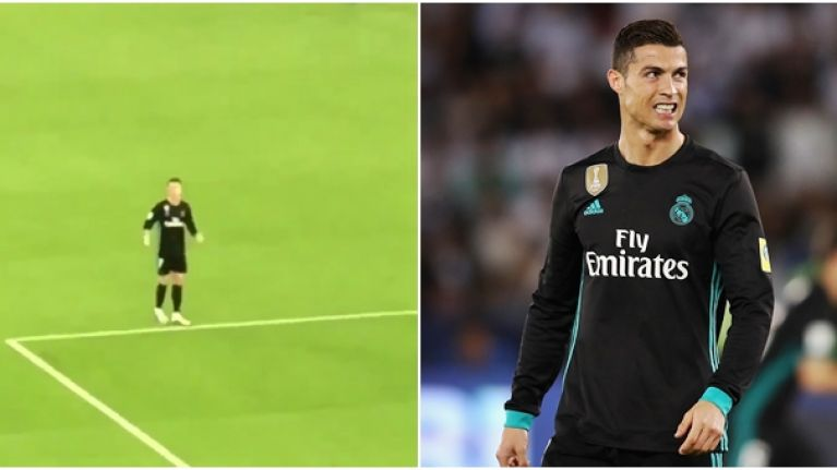 Cristiano Ronaldo's reaction to Lionel Messi chant was priceless