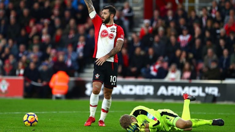 Charlie Austin hit with violent conduct charge for clash with goalkeeper Jonas Lössl