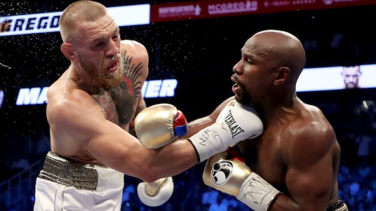 Floyd Mayweather has a brilliant Conor McGregor punching bag in his gym