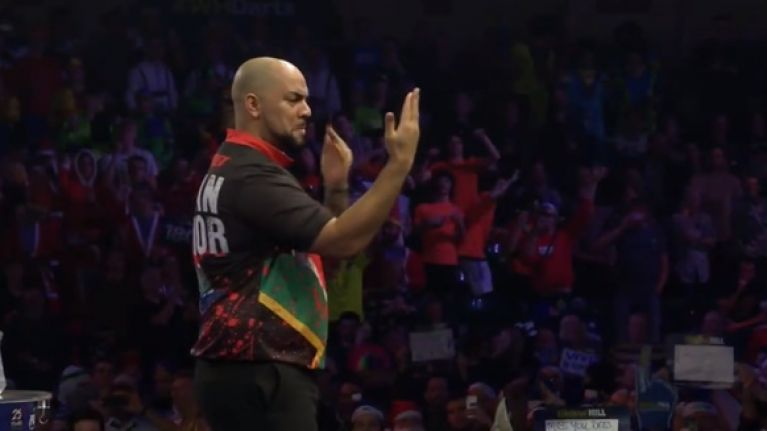 South African darts player steals the Ally Pally show with slick dance moves during walk-on