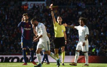 Dani Carvajal sees red after taking a leaf out of Luis Suarez's book in El Clásico