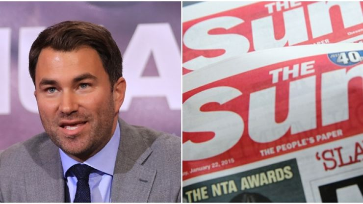 Eddie Hearn pulls Ohara Davies from fight for comments about The Sun newspaper