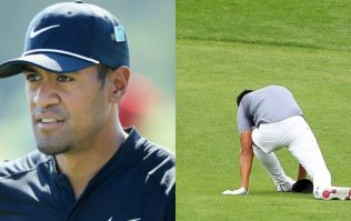 ESPN journalist offers update on Tony Finau after wrecking his ankle during ace celebration at Masters par 3 contest