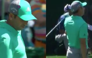 WATCH: Defending Masters champion Sergio Garcia dumps FIVE shots into the water