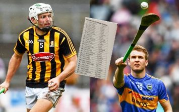 The best 15 players of Kilkenny and Tipperary's League final starting teams