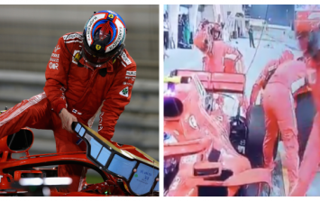 Ferrari F1 mechanic suffers horrendous leg break during Bahrain Grand Prix