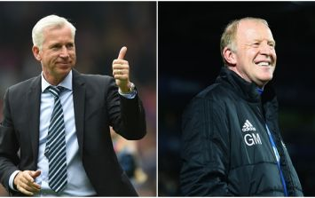 Alan Pardew's comment to West Brom's caretaker manager is so ironic now