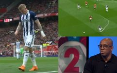 MOTD highlight moment James McClean literally ran himself into the ground against Man Utd