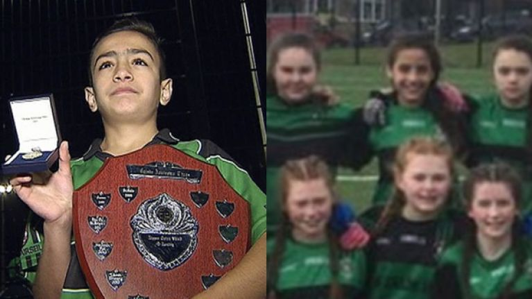 Syrian refugee brother and sister win GAA titles with west Belfast club Patrick Sarsfields