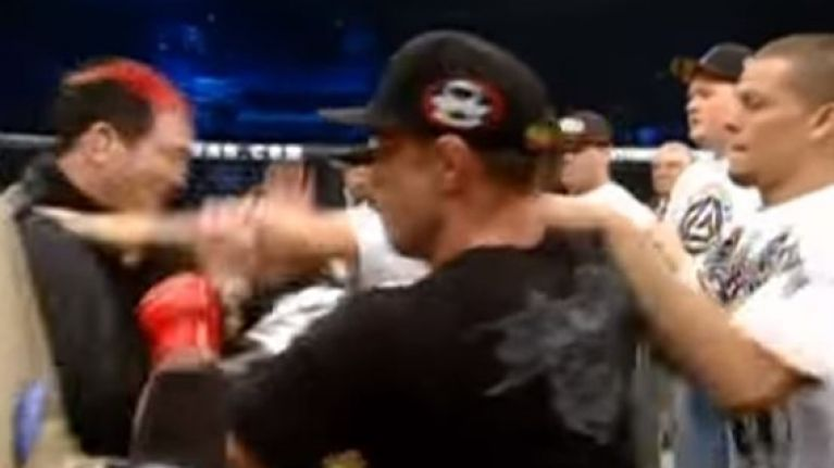 Nate Diaz takes shot at Conor McGregor while commemorating the most infamous brawl in MMA history