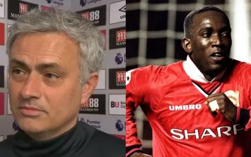 Proving he's not all doom and gloom, Jose Mourinho cracks Dwight Yorke joke while discussing Manchester United attack