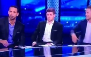 Rio Ferdinand and Steven Gerrard's reactions to Michael Owen joke really said it all