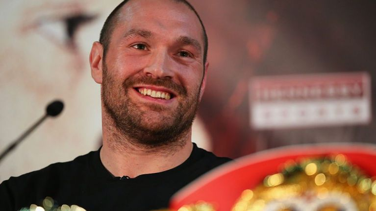 Tyson Fury couldn't resist dig at Anthony Joshua as he announces comeback date