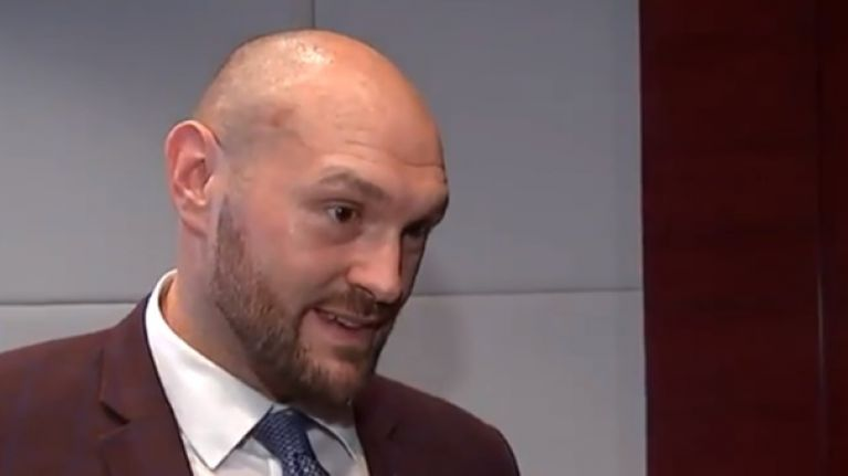 'Terminated' - Tyson Fury walks out of ITV interview after just 30 seconds