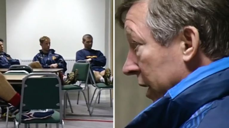 Brilliant footage shows Alex Ferguson team talk before Liverpool game