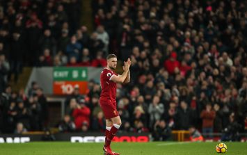 Jordan Henderson pays tribute to Irish fan in critical condition after Anfield attack