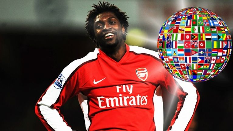 Can you name the international teams these Arsenal players represented?