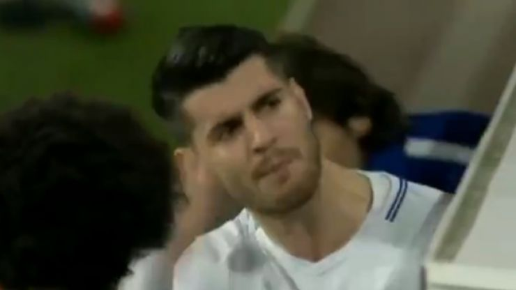 Alvaro Morata responds to lashing out at being substituted