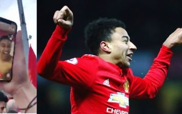 Jesse Lingard uses Facetime to lead fan chants from inside Man United dressing room