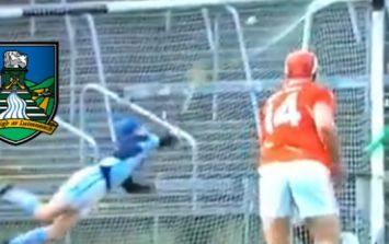 Goalkeeper in Limerick springs into air and pulls off diving save to top all others