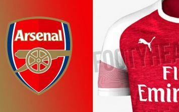 Images of Arsenal's 2018/19 home jersey have been leaked