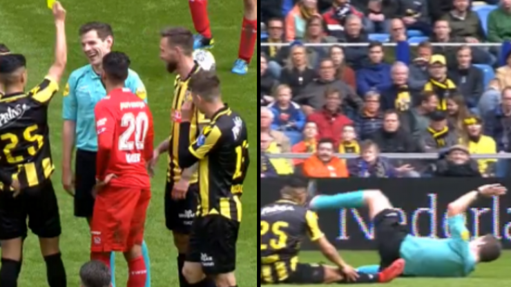 Dutch referee 'booked' for simulation after pathetic dive