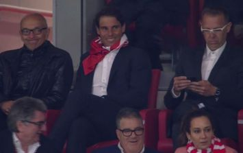 Everyone had the same thought seeing Rafael Nadal celebrate Atletico Madrid beating Arsenal