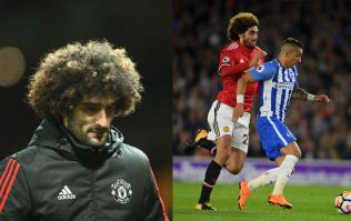 United fans absolutely furious with Marouane Fellaini's performance at Brighton