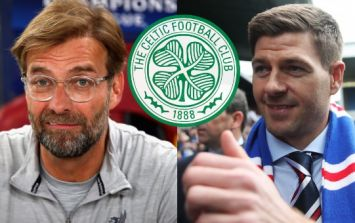 Celtic fans took exception to Jurgen Klopp's claim about Steven Gerrard